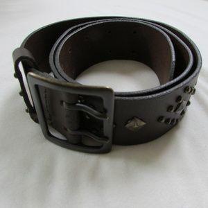 Genuine Brown Leather Studded Belt